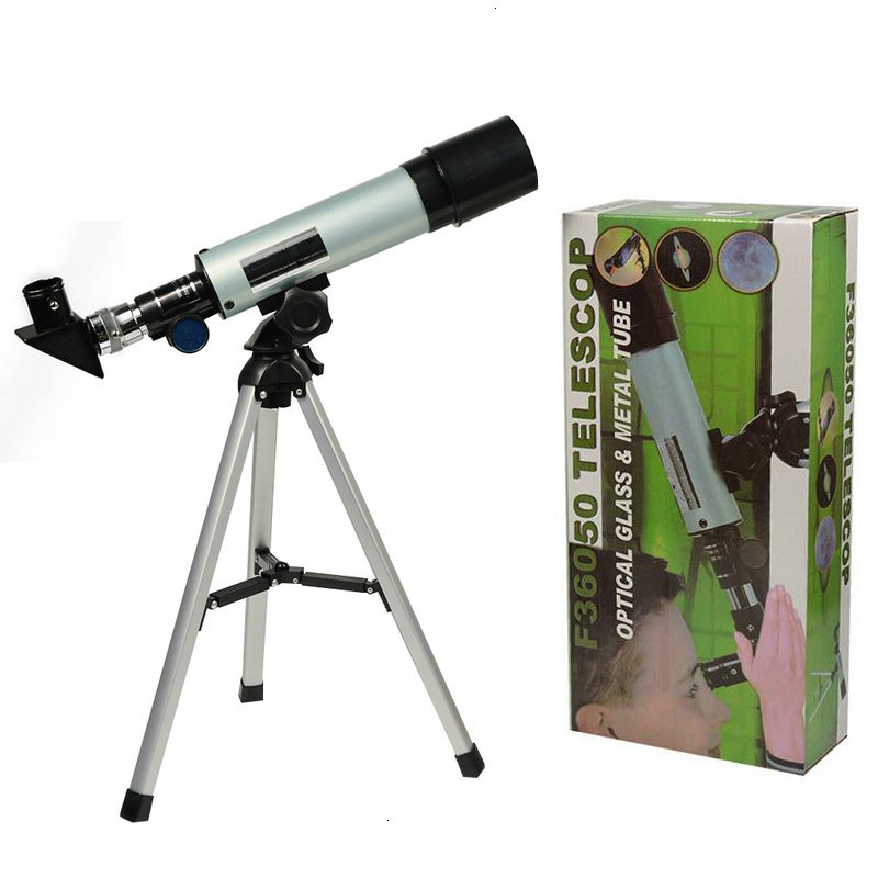 F36050M Astronomical Telescope With Portable Tripod Monocular Zoom Telescope Spotting Scope For Watching Moon Stars Bird