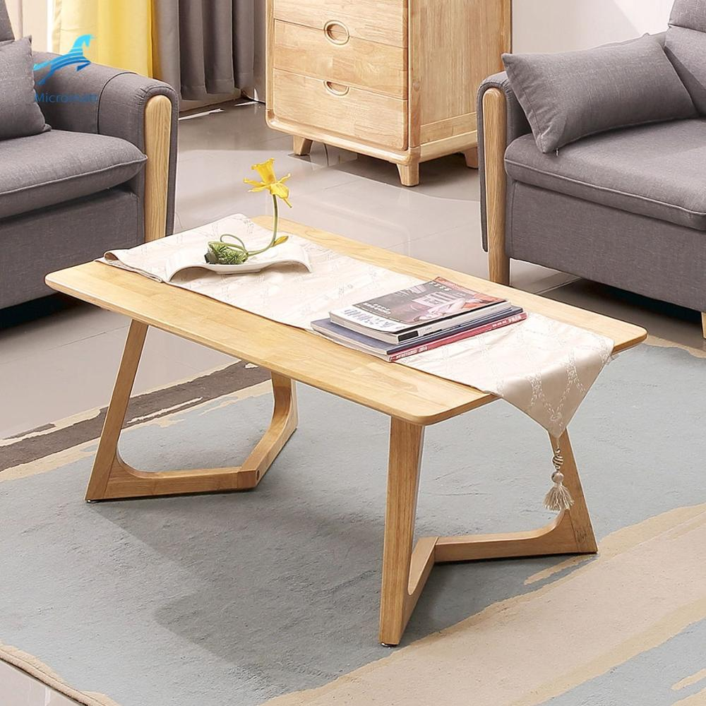 Special Design Modern Living Room Coffee Table Solid Wood Reception Table ティーテーブル الجدول المحملة