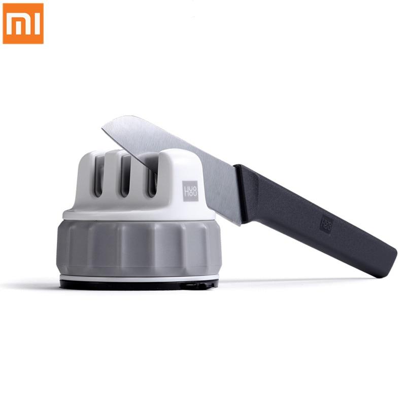 Xiaomi Mijia HUOHOU Fixable Sharpen Stone Trible Wheel Whetstone Sharpeners Sharpening Tool