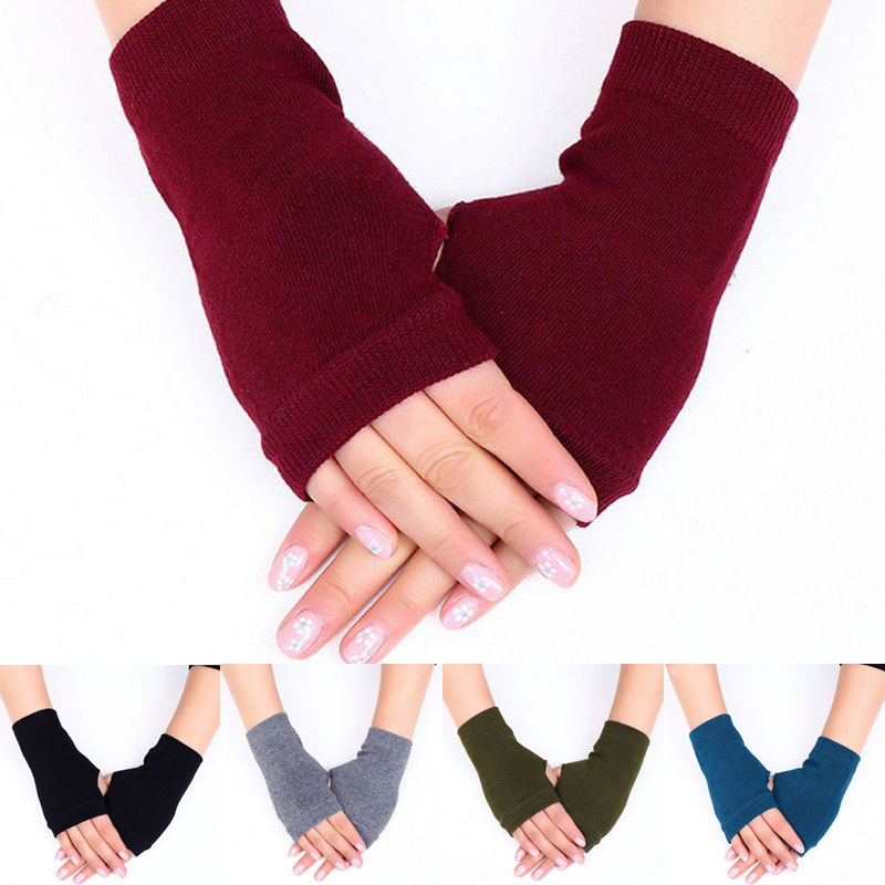 NEW Fingerless Gloves Female Stylish Hand Warmer Winter Gloves Women Arm Crochet Knitting Cotton Mitten Warm