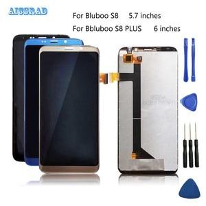 Image 1 - Tela lcd aicsrad para bluboo s8/s8 plus, display de toque e montagem de tela para s 8 lite s8plus, reparo perfeito qualidade original