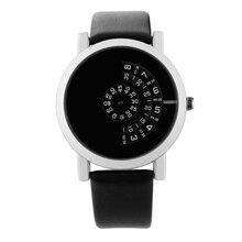 Fashion Creative Watches Men Turntable Leather Strap Quartz Sports relogio masculino heren horloge