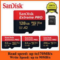 SanDisk Extreme Pro 128GB 64GB 32GB microSDHC SDXC UHS-I Speicher Karte micro SD Karte Tf-karte Bis zu 170 MB/s Class10 Mit SD Adapter