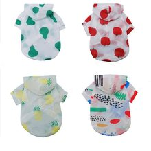 Hoomall Cute Dog Clothes Sunscreen Dog Coats Jacket Print Pineapple Tomato Soft Polyester Dog Raincoat Pet Supplies(China)