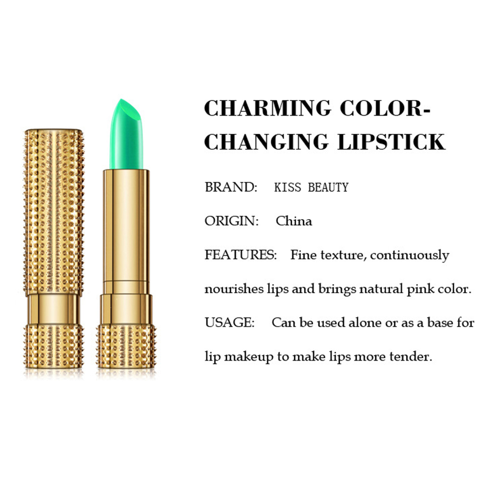 1PCS  Aloe Vera Temperature Changed Color Lipstick Natural Moisturizer Lipblam Natural Magic Pink Protector Lips Cosmetics TSLM1 4