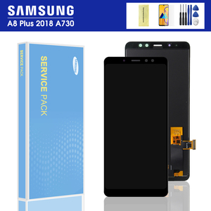 NEW A730 display For Samsung Galaxy A8 Plus 2018 LCD Display Touch Screen Digitizer A730F A730F/DS Samsung A8+ Plus 2018 LCD(China)