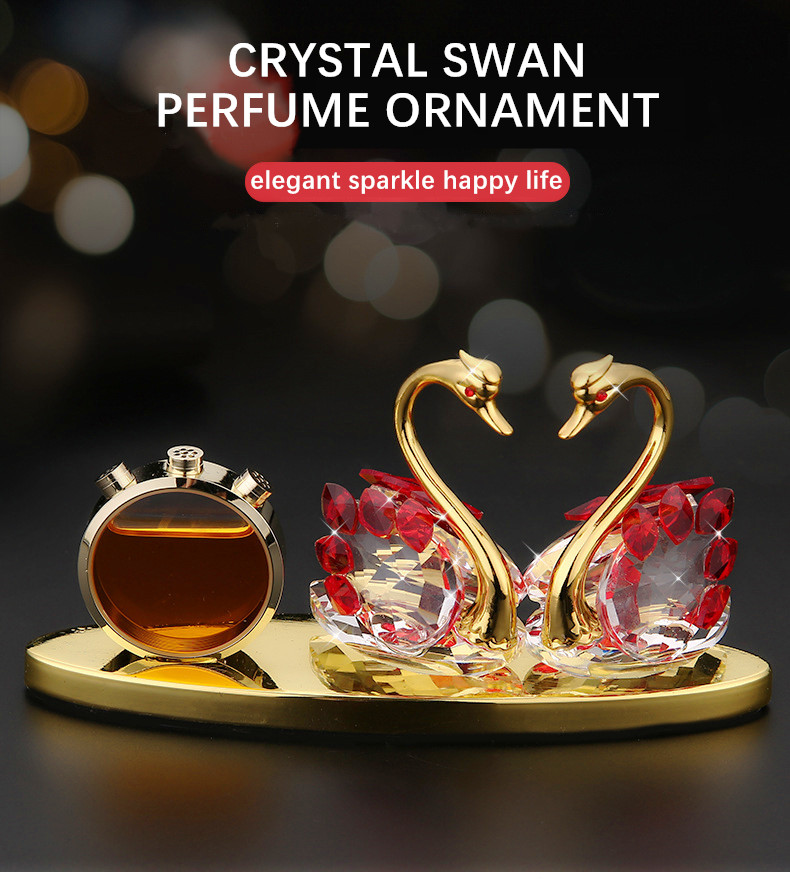 Car Accessori Crystal Vehicle Fragrance Interior Ornament New Generation Alloy of Lock Your Heart Improve Driving