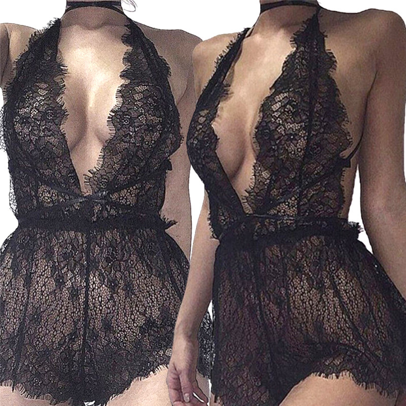 1PC Babydoll Sexy Lingerie Erotic Lingerie Cosplay Sexy Costumes Hot Sexy Women Lace Teddy Dress