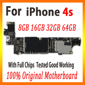 8GB 16GB 32GB dla iphone 4S płyta główna z systemem OS oryginalny odblokowany dla iphone 4S płyta główna z pełnymi chipami darmowa wysyłka tanie i dobre opinie Wewnętrzny Apple iphone for iphone 4s Whole Complete Motherboard Used and Good Working Full QC Tested In stock 8GB 16GB 32GB 64GB