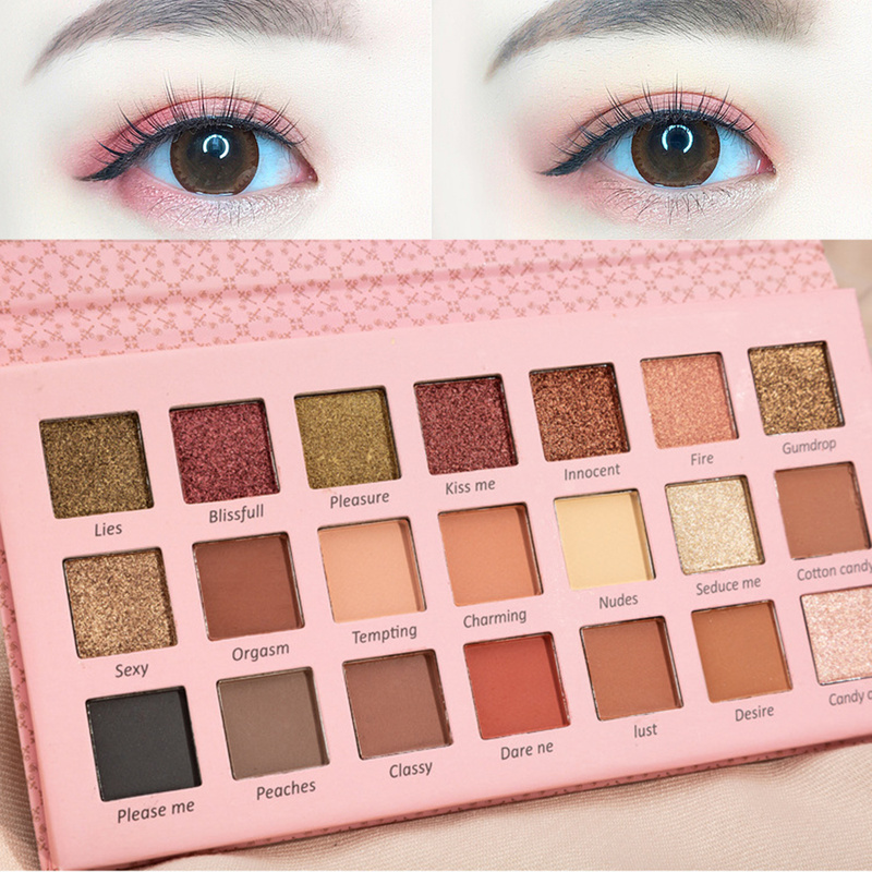 Hot Shimmer Matte Eyeshadow Makeup Palette 21 Colors Glitter Long Lasting Pigment Eye Shadow Sombras For Beauty Cosmetic TSLM1