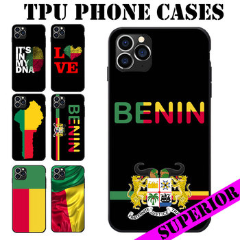 For Samsung GalaxyA20 50 70 M20 30 S7 S8 S9 S10 LITE Edge PLUS NOTE Benin Flag Coat Of Arms Love Heart Map Soft TPU Phone Cases image