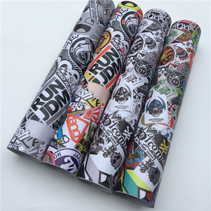 Image 3 - JDM UDM Sticker Bomb Car Wraps Foil Graffiti Camouflage Vinyl Car Wrapping Camo Vinyl Film Roll  Sticker Decal Console Computer