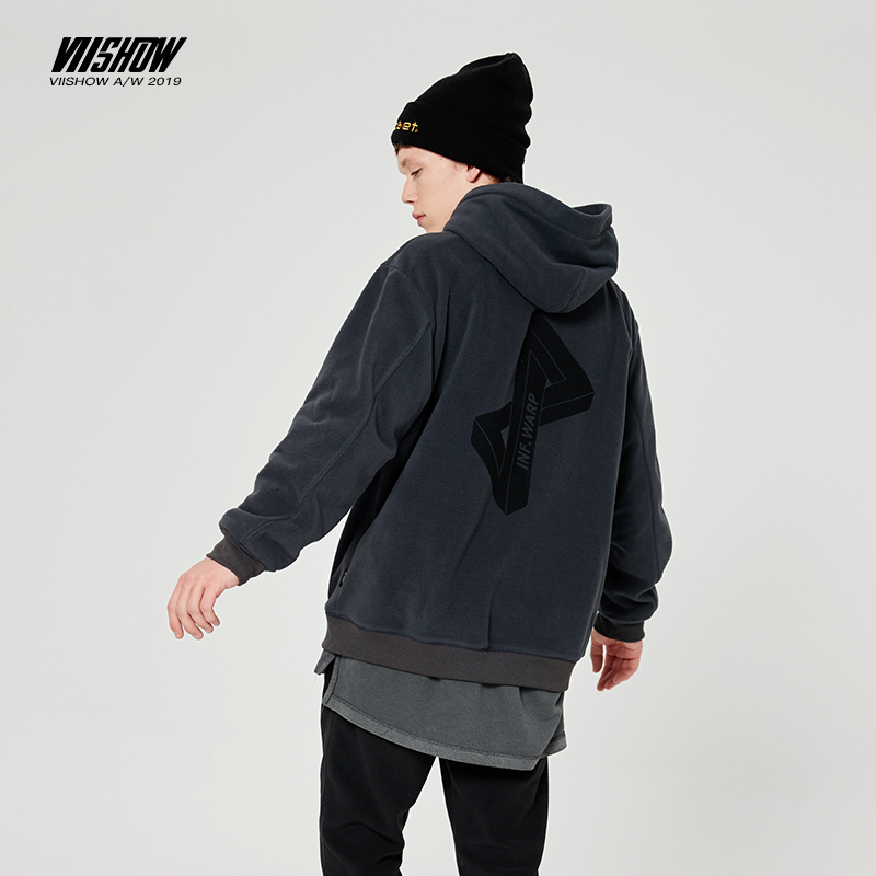 VIISHOW Man Hoody Sweatshirts Men Streetwear Hip-Hop Thicken Solid-Fleece Selling Men's