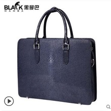 heimanba Thai pearl fish skin  Man business handbag office bag one-shouldered youth  Fashionable new leather men handbag heimanba crocodile men handbag men small double zipper multi card youth luxury real leather thai crocodile handbag business bag