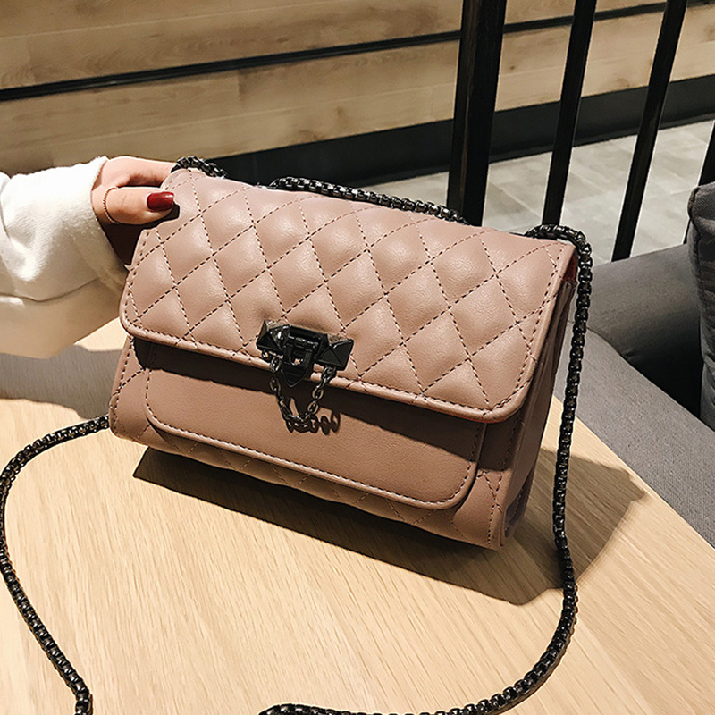 Lattice Quilted Leather Crossbody Bags For Women 2020  Mini Black Shoulder Messenger Bag Fashion Chain Handbags And Purses