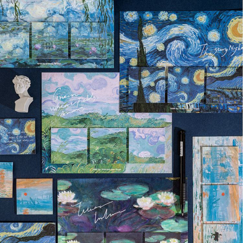 60 шт./компл. Artist Van Gogh липкая бумага для заметок Notes Office Kawaii Дневник для заметок DIY творческие заметки Декоративные Канцелярские открытки для ...