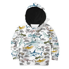 Худи с 3d принтом акулы детский пуловер свитшот спортивный костюм