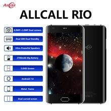 Original allcall rio 5.0 Polegada ips câmeras traseiras android 7.0 smartphone mtk6580a quad core 1gb ram 16gb rom 8.0mp otg 3g telefone móvel