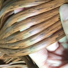 Цвет древесины/коричневые с принтом градиент плоский синтетический PE ротанга ткацкий материал пластик ротанга для вязания и ремонта кресла и т. Д