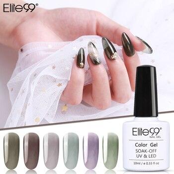 Elite99 Gletscher Schwarz Gel Polish 10ML Gel Polish Nail art Set Für Maniküre Hybrid Nägel Vernis UV Gel Nagel polnischen Gel Lack