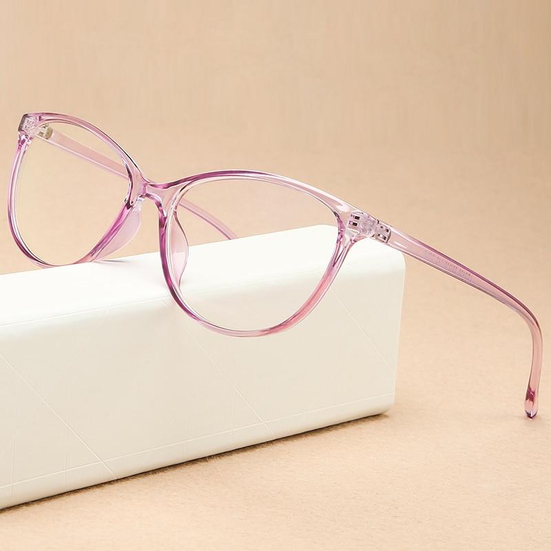 KOTTDO Vintage Cat Eye Women Glasses Frame Retro Student Myopia Eyeglasses Frame Fashion Plastic Transparent Men's Eyewear Frame