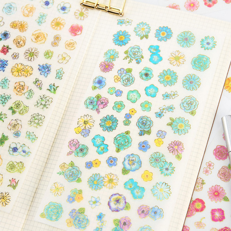 Купить с кэшбэком 6pcs/lot Cartoon Hundred Flowers Blossom Decoration Stationery Stickers Diary Sticker Scrapbook
