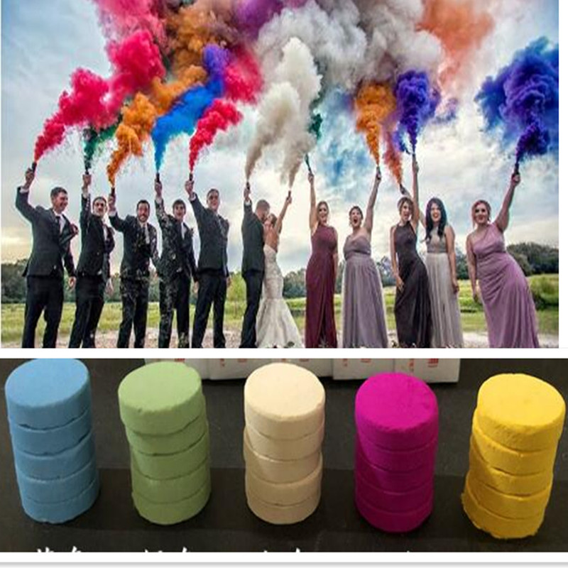1 Box Colorful Magic Smoke Tricks Props Fire Tips Fun Toy Pyrotechnics Smoke Cake Fog Magician New Professional Pocket Items