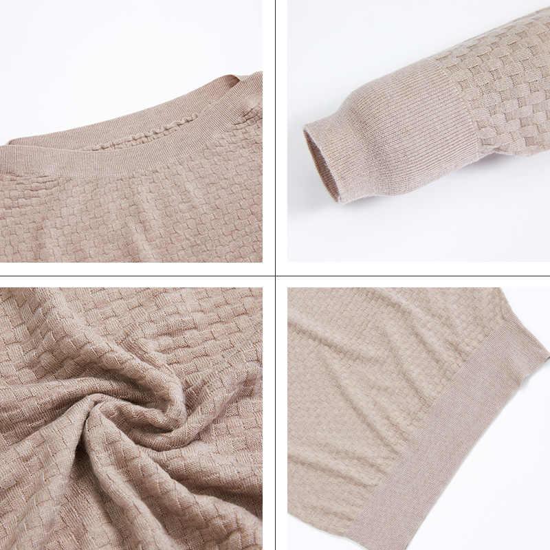 Astrid 2019 Herfst nieuwe aankomst vrouwen trui hoge kwaliteit nieuwe mode stijl beige kleur dunne katoenen vrouwen herfst kleding 9801