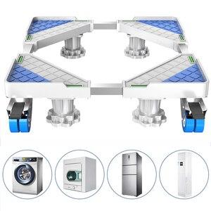 Image 5 - Soporte móvil para frigorífico con ruedas de freno, soporte móvil para máquina de lavado, 4 pies fuertes, 500kg