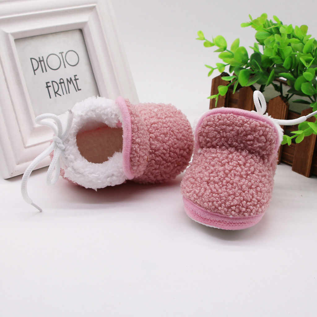 Mode Schuhe Kid 2019 Heißer Verkauf Infant Winter Feste Stiefel Neugeborenen Baby Mädchen Kaschmir Plüsch Verband Warme Schuhe chaussure enfants