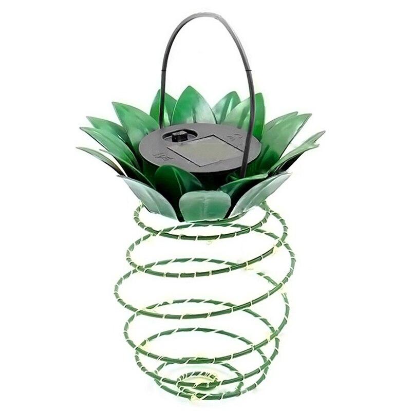 2Pack Pineapple Garden Solar Lights,Upgraded Waterproof 30 Led Solar Lantern,Warm White Fairy String Light,Night Light For Patio