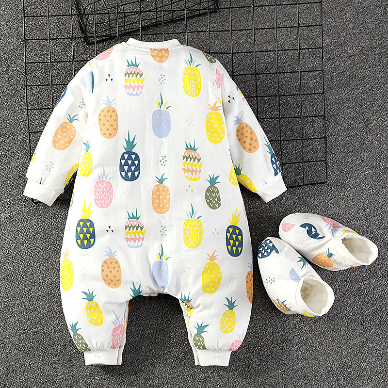 Infant Sleeping Bag Legs Children Anti-kick Quilt Useful Product Baby One-piece Pajama Autumn And Winter Thick