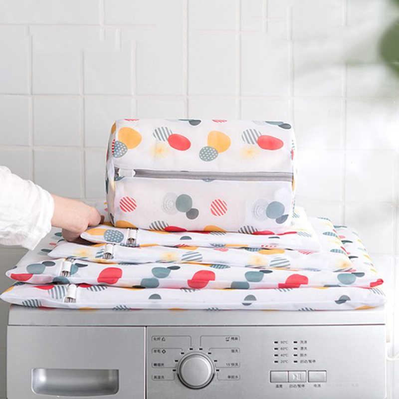 1 stücke Wäsche Taschen für Waschmaschinen Mesh Bh Unterwäsche Tasche Reißverschluss Mesh Wäsche Waschen Taschen Faltbare Bar Wäsche Tasche