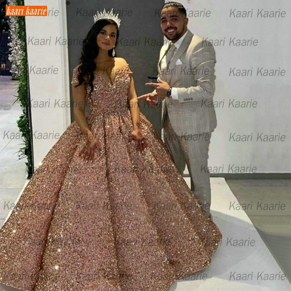 Dubai Sweetheart Burgundy Luxury Wedding Dresses 2020 Pageant Sparkly Sequined Arabic Bridal Gowns Custom Made Vestido De Noiva