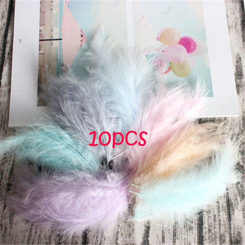 Natural Turkey Feathers Plumes 4-6 Inches10-15cm Multicolor Chicken Marabou Feather DIY Craft Wedding Jewelry Decoration 50pcs - Цвет: warm mix 10P