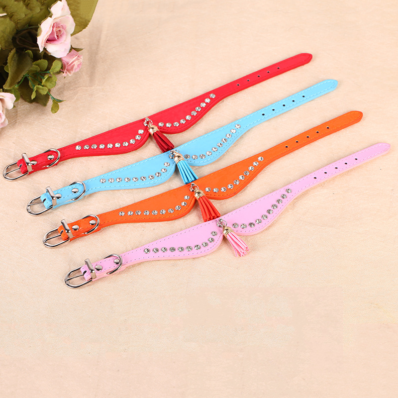 Factory Wholesale Pet Supplies Summer Hot Selling Pu Cats Ring-Style Butterfly Dog Detachable Collar Neck Ring