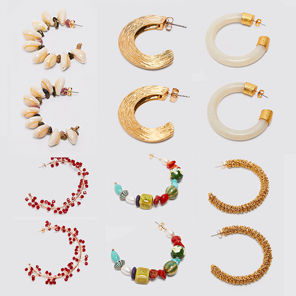 Monarchess Maxi ZA Hoop Earrings For Women Jewelry Handmade Statement Brincos Simalated Pearls Shell Beded Earrings Wholesale