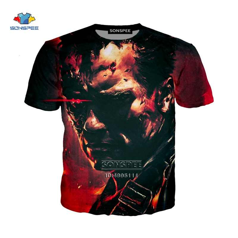SONSPEE stampa 3D nuovo terminatore di film Dark Fate Arnold fyegger Unisex Casual Harajuku T-shirt Hip Hop Tshirt A1045