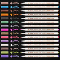 12 15 Colors Metallic Art Marker DIY Scrapbooking Card Making Crafts Soft Brush Pen For Drawing DIY Photo Album School Supplies