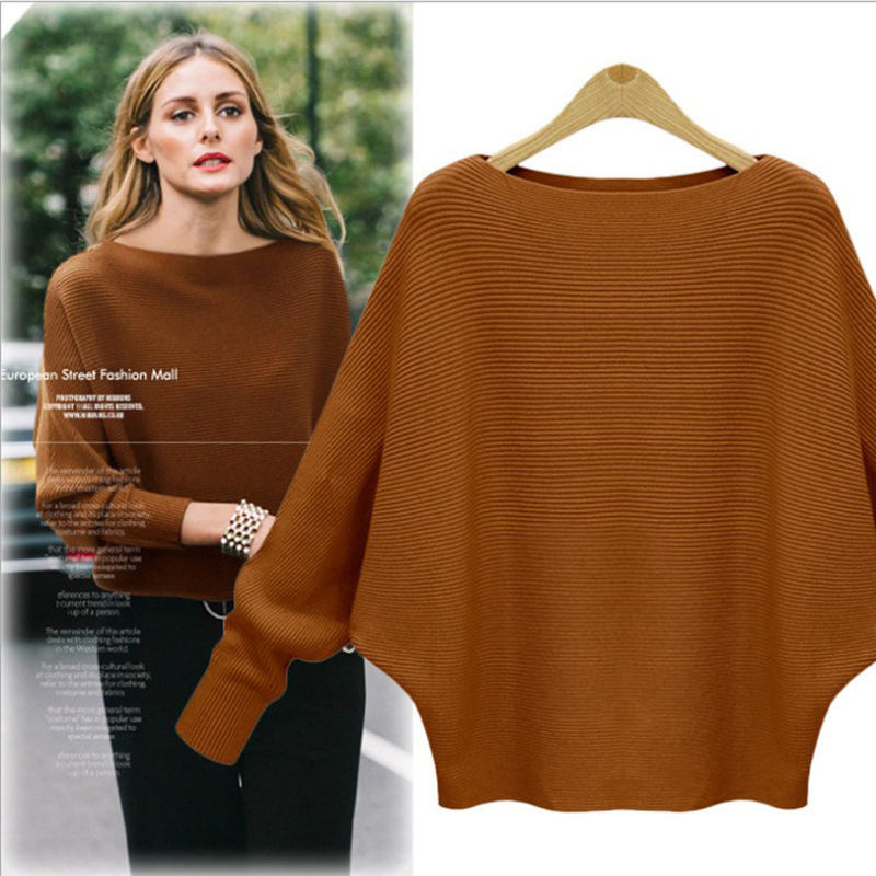 Bonjean Thick Knitted Tops Jumper Autumn Winter Casual Pullovers Sweaters Women Long Sleeve Big Loose Sweater Girls