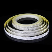 Fluorescent Bike Bicycle Cycling Motorcycle Reflective Sticker Safety Waterproof Wheel Rim Strip Decal Tape new 8mx1cm universal motorcycle reflective stickers strips diy bike car safety warning reflective tape wheel rim decal sticker
