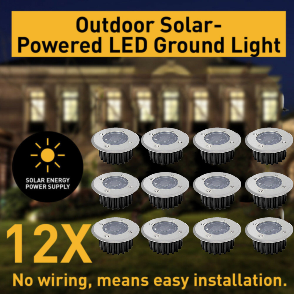 Solar Power Buried Stair Light Under Ground Lamp Outdoor Path Way Garden Decorations Floor Lawn Lamp Waterproof Footlight