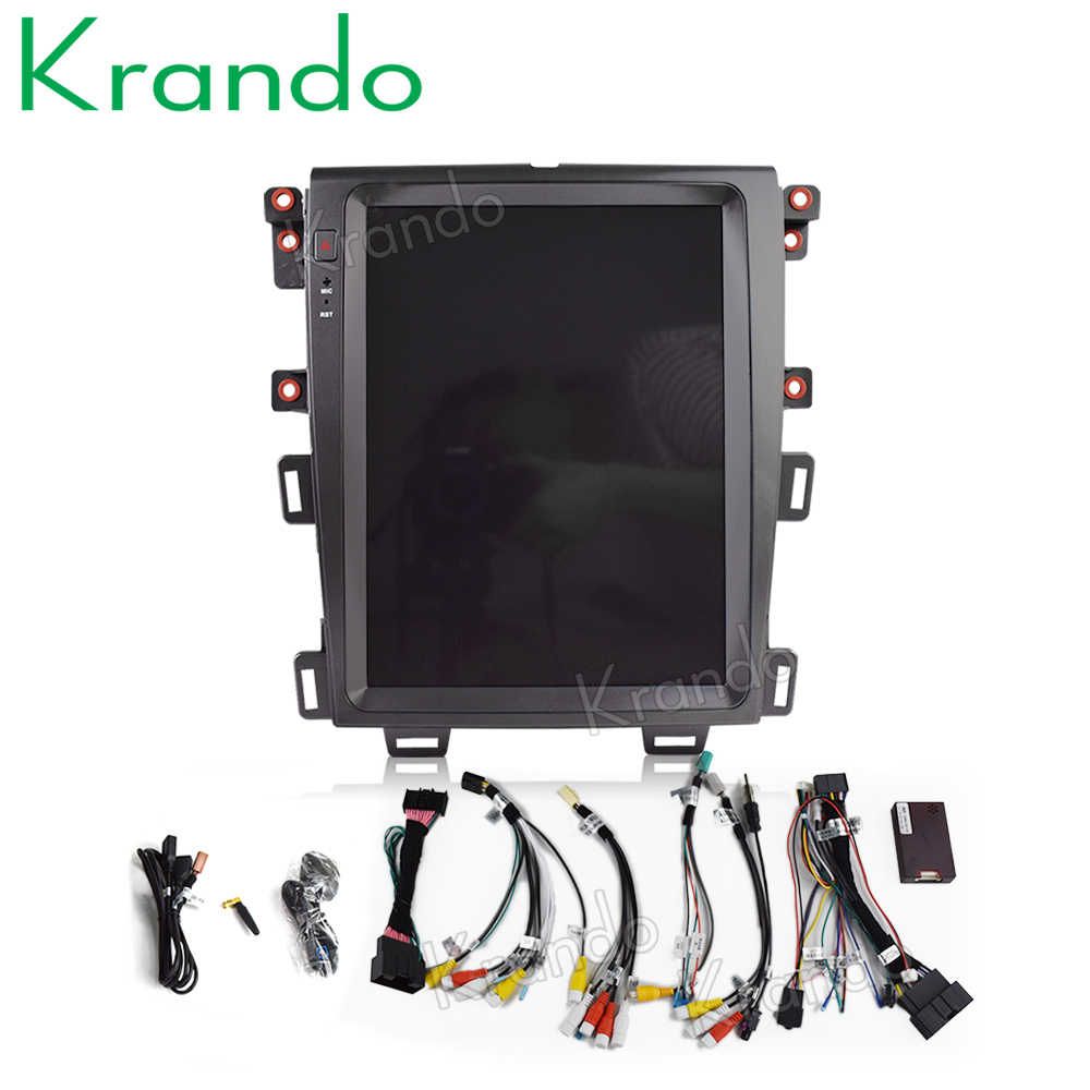 "Krando Auto Radio Gps Voor Ford Edge 2009-2014 Android 8.1 12.1 ""Tesla Verticale Screen Navigatie Multimedia Systeem wifi A/C Bt"