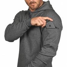 2019 Men Sweatshirt Hoodies Black Hoodie Autumn Brand Pullover Solid Color Sportswear Sweatshirt Men's Pocket Design Tracksuits ombre topstitched pocket design hoodie