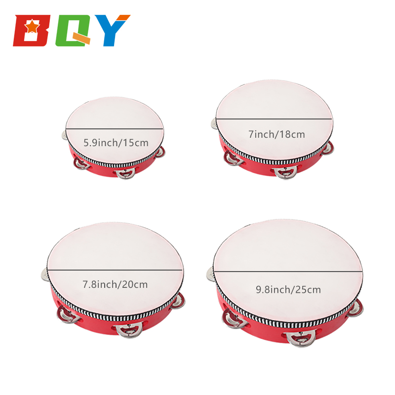 BQY Tambourine Wood for Kids Musical Instruments Wooden Percussion Instruments Tambourine Xylophone Toys Preschool Education