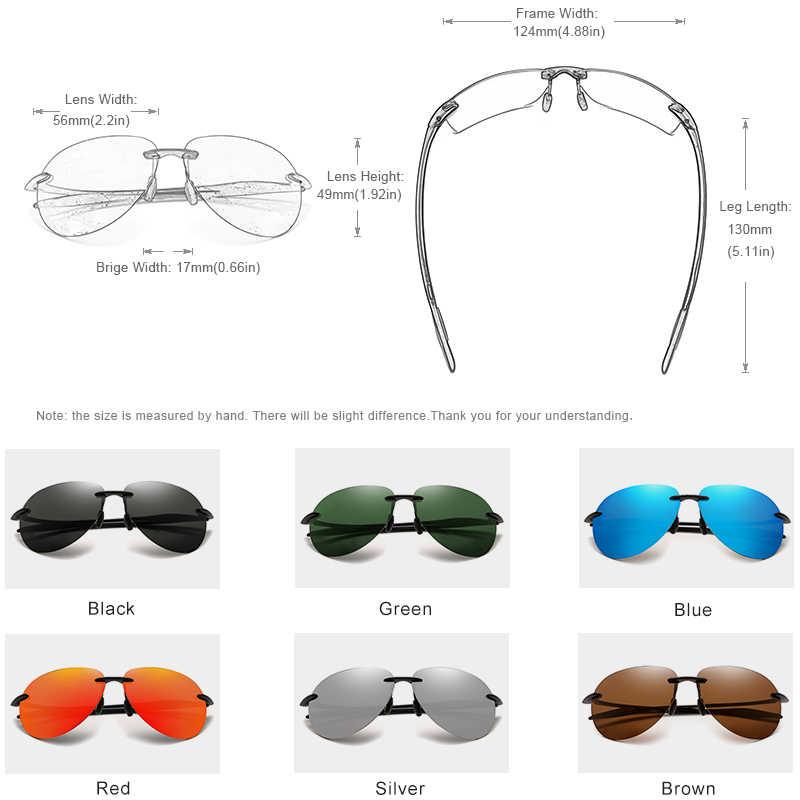 Kingseven 2019 ultralight tr90 sem aro óculos de sol dos homens alta qualidade sem moldura óculos de sol para mulher oculos feminino