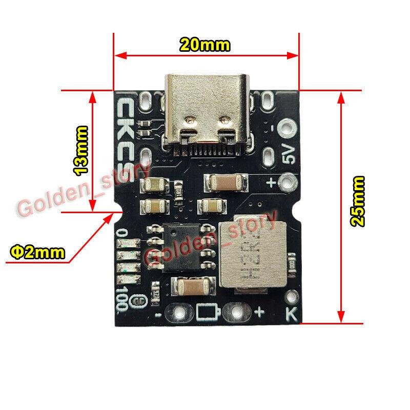 Зарядное устройство Mini 5V 2A Type-C для литий-ионной батареи 4,2 V 18650