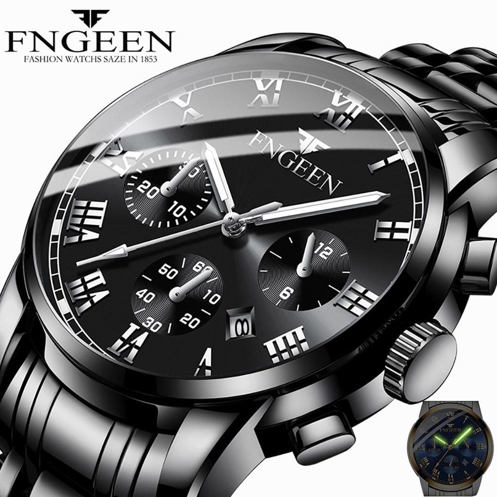 2019 Relogio Masculino Watches Men Luxury Sport Stainless Steel Band Watch Quartz Business Wristwatch Clock Gift Reloj Hombre