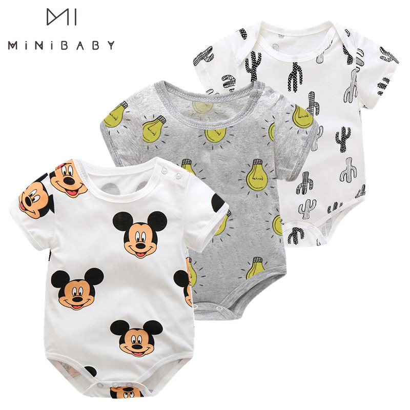 Orangemom Minibabies Anime Baby Girl Clothes Ins Cotton Funny Baby Boy Clothes , New Born Summer Infant Bodysuit I Love Daddy