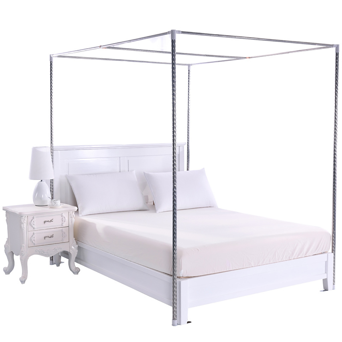 4 corner post bed canopy mosquito